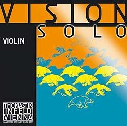 Thomastik Vision Solo 4/4 Violin String Set - Medium Gauge - with Aluminum Wound D String